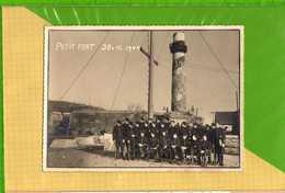 Carte Photo GRAVELINES PETIT FORT PHILIPPE  Militaires Devant Le Phare 1944 - Gravelines