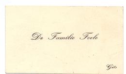 Visitekaartje - Carte Visite - De Familie Foele - Gits - Cartes De Visite