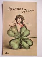 FILLETTE  PENSEE      BONNE  ANNEE              TTB - Fantaisies