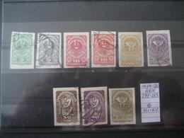 Österreich 1919/20- Freimarken 1919-1920, Mi.Nr. Und ANK 275-283 Geschnitten Und Gestempelt - Gebruikt