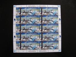 O.N.U. C.I. De Vienne: TB Feuille De 10 Paires N° 405 Et N° 406, Neuve XX. - Wien - Internationales Zentrum