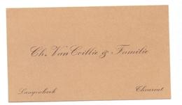 Visitekaartje - Carte Visite - Ch. Van Coillie & Familie - Torhout - Cartes De Visite