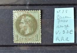 France - N° 25 Oblitération Rouge Des Bureau De Passe  //  RRR  //  Le N° Fini Par 056 - 1863-1870 Napoléon III Lauré