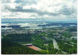 Lake Kallavesi,Kuopio, Postcard Finland Sent To Andorra, With Nice Postage. - Finlandia