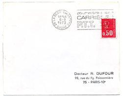 DROME - Dépt N° 26 = LA BEGUDE De MAZENC 1973 =  FLAMME à DROITE =  SECAP ' CARRIERES PTT / Pour Votre Avenir ' - Marcophilie (Lettres)