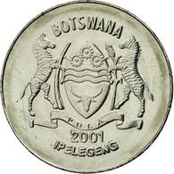 Monnaie, Botswana, 50 Thebe, 2001, British Royal Mint, SUP, Nickel Plated Steel - Botswana
