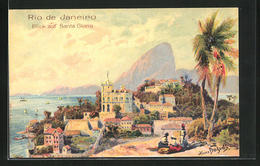 Künstler-AK Hans Bohrdt: Rio De Janeiro, Blick Auf Santa Gloria - Brasilien