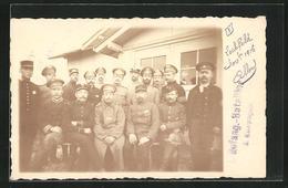 AK Lager Lechfeld, Gruppenbild Mit Kriegsgefangenen - Guerre 1914-18