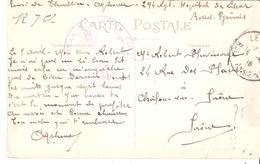 Pyrénées Atlantiques :- LESCAR  HOPITAL N° 130 - Marcophilie (Lettres)