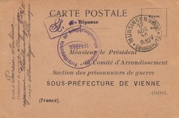 CARTE PRISONNIER DE GUERRE. KRIEGSGEFANGENEN. 1916.   KRIEGS KRIEGSGEFANGENENLAGER MÜNSINGEN   /  2 - Storia Postale