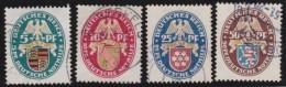 Deutsches Reich   .    Michel     .    398/401      .         O      .   Gebraucht - Oblitérés