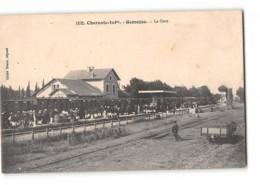 CPA 17 Gemozac La Gare Et Le Train - France