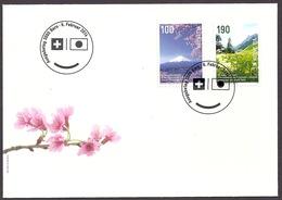 Switzerland / Suisse / Schweiz 2014 - 150 Years Diplomatic Relations With Japan, Samnaun Valley, Fuji Volcano FDC - FDC