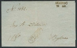 ITALY Lombardy - Venetia. 1849 (24 June). EL From The Court Of The Justice Of The Peace At Agordo, Bearing Official Hand - Unclassified