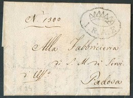 ITALY Lombardy - Venetia. 1834 (24 Sept). Local Padova Entire Letter Bearing Crown Over IRAE In Oval (Imperiale Regio Ad - Italy