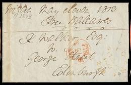GREAT BRITAIN. 1813. Rigan - Edinburgh. EL Full Text / Free Balcawes. Yellow Cds / 219. VF. - Great Britain
