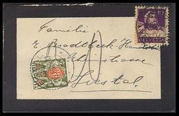 Switzerland - XX. 1933. Basel - Liestal. Fkd 10c Env + Taxed + 20c. Postage Due / Tied. Fine. - Switzerland