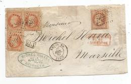 BFE SYRIE - BEYROUTH - GC.5082/Napoleon Lauré N°31paire+2 -PD Noir+Càd T.15-1869 - Siria (1919-1945)