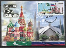 PAKISTAN 2011, PAKISTAN AND RUSSIA FRIENDSHIP  MAXIMUM CARD - Pakistan