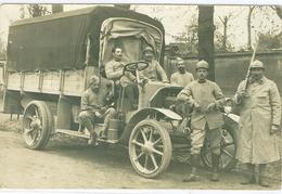 Carte Postale Photo Camion Militaires Postée Noisy Le Grand Photo Georgeon Villiers - Fotos