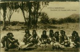 AFRICA - ERITREA -   CUNAMA BANQUET IN THE FOREST - EDIZ. N. MONELA - 1910s ( BG2810) - Eritrea