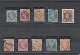 Lot Napoléon III  N°25,26,28,29,30,31,32,36,37,38 Oblitérés Très Bonne Cote - 1863-1870 Napoléon III. Laure