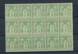 CP-115: FRANCE:  Lot   Avec N°106** Gomme 2ème Choix - 1898-1900 Sage (Type III)