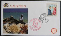 ILE MAURICE - MAURITIUS - 1989 - VISIT DU PAPE JEAN PAUL II - Mauritius (1968-...)