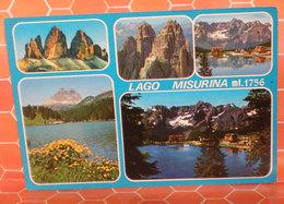 Lago Misurina Vedute  Cartolina Viaggiata 1992 - Italia