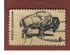 STATI UNITI (U.S.A.) - SG 1382  - 1970   WILDLIFE CONSERVATION: AMERICAN BISON     - USED° - Stati Uniti