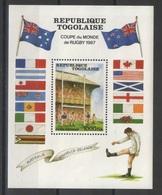 Togo - Bloc - YT 260 ** - 1987 - Rugby - Togo (1960-...)