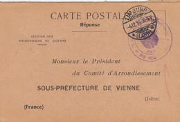 CARTE PRISONNIER DE GUERRE. KRIEGSGEFANGENEN. 1916.   GEFANGENEN-LAGERS LIMBURG /  2 - Storia Postale