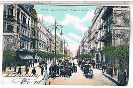 Argentine Buenos Aires  AVENIDA DE MAYO Y    1908 Us34 - Argentina