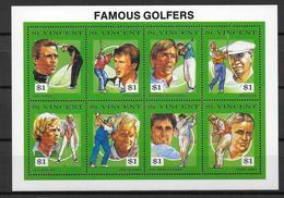 GOLF - ST VINCENT YVERT N° 1318/1325 ** - COTE = 18 EUR. - St.Vincent (1979-...)