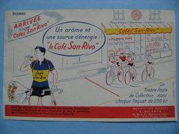 Buvard Café San-Rivo - Le Vainqueur Cycliste - Etablissements A.Balestié - Port-Royal   A Voir ! - Café & Thé