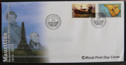 ILE MAURICE - MAURITIUS - 2010 - FDC - BICENTENARY OF THE BATTLE OF GRAND PORT - Maurice (1968-...)