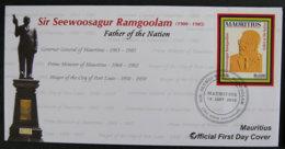 ILE MAURICE - MAURITIUS - 2010 - FDC - SIR SEEWOOSAGUR RAMGOOLAM - FATHER OF THE NATION - Maurice (1968-...)