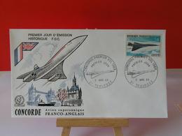 Concorde Franco Anglais PA 43 - 31 Toulouse - 2.3.1969 FDC 1er Jour - Coté 9€ - FDC