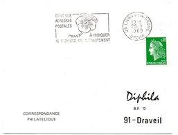 DROME - Dépt N° 26 = LIVRON 1969 =  FLAMME Codée  = SECAP ' PENSEZ à INDIQUER NUMERO DEPARTEMENT ' - Marcophilie (Lettres)