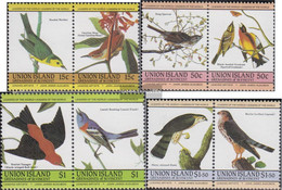 St. Vincent-Union Iceland 78-85 Couples (complete Issue) Unmounted Mint / Never Hinged 1985 John James Audubon: Birds - St.Vincent (...-1979)