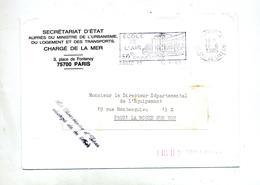 Lettre Flamme Paris 41 Ecole De L'air Franchise Cachet Secretaire Charge Mer - Annullamenti Meccanici (pubblicitari)