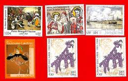 3826 --  FRANCE - 2001  N° 3369+3385+3421+3429+3435**  Neufs - Collezioni