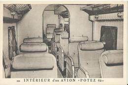 """CPA / Intérieur D'un Avion  """" Potez 62 """" - Avions"""