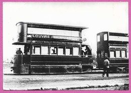 ( Paris ) Automotrice Mekarski Tramway Ligne Louvre Saint Cloud Point Du Jour Boulogne Villages D Auteuil Et Passy - Transport Urbain En Surface