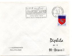 DROME - Dépt N° 26 = LORIOL 1968 = FLAMME Codée SUPERBE = SECAP ' PTT Vous OFFRENT SITUATIONS AVENIR ' - Marcophilie (Lettres)