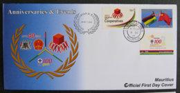 ILE MAURICE - MAURITIUS - 2012 - FDC - ANNIVERSARIES & EVENTS - Mauritius (1968-...)