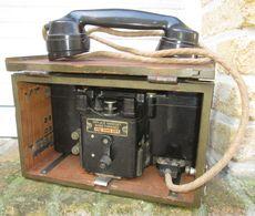 Telephone De Campagne + Caisse De Transport GB WW2 - 1939-45