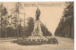 CPA - Belgique - Camp De Beverloo - Monument Et Avenue Chazal - Leopoldsburg (Camp De Beverloo)