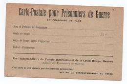 CARTE DE FRANCHISE MILITAIRE FM NEUVE - CARTE POSTALE POUR PRISONNIERS DE GUERRE EN FRANCHISE DE TAXE - Marcophilie (Lettres)