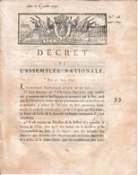 21 Juin 1791 AFFAIRE DE VARENNES - ABSENCE DU ROI - Apposition Du SCEAU DE L'ETAT Archives Chancellerie - Historische Dokumente